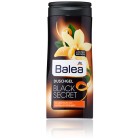 Гель для душа Balea Black Secret с ароматом ванили и апельсина 300мл