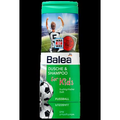 Balea детский гель для душа+шампунь без слез 300мл футбол