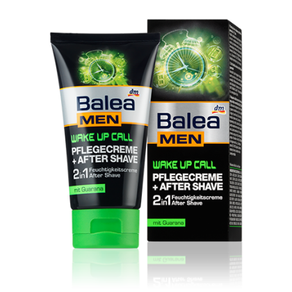 Balea men Wake Up увлажняющий крем после бритья 2в1 75мл для мужчин
