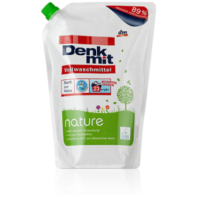 Стиральный гель Denkmit Nature для белого белья 1,5л 23 стирки запаска