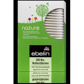 Ватные палочки Ebelin Nature 200шт