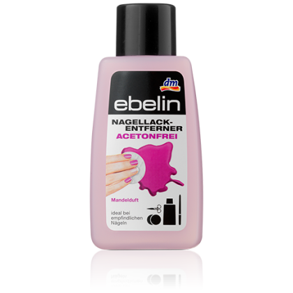 Ebelin жидкость для снятия лака без ацетона с запахом миндаля 125мл