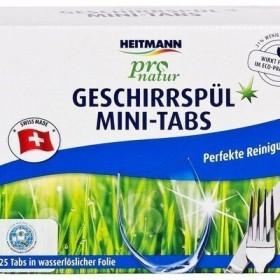 Мини-таблетки  для посудомоечных машин Heitmann pro natura 25шт