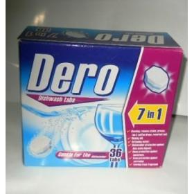 Таблетки для посудомоечной машины Dero 7в1 36шт