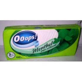 Носовички Ooops! Menthol 3-х сл 100шт в пакете (50)