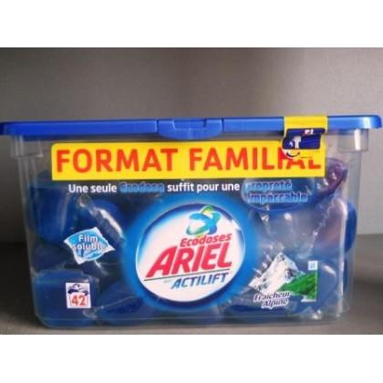 Ариель капсулы 42шт=42ст актилифт альпийская свежесть синие