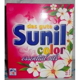 Sunil стир. порошок для цветного белья с аромамаслами 1,215кг 18ст