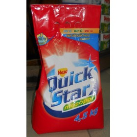 Quick star стиральный порошок универсал 4,5кг
