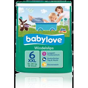 Babylove подгузник-трусики 6 ХХL  18-30кг 18шт для малышей