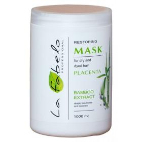Маска La Fabelo Professional для сухих и крашеных волос с экстрактом бамбука+ пшеничной плацентой 1000мл