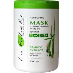 Маска La Fabelo Professional для сухих и окрашенных волос с экстрактом бамбука+ пшеничной плацентой 1000мл