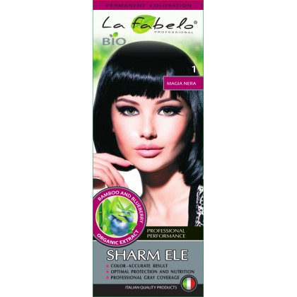 Крем-краска для волос био 50мл тон 1 La Fabelo Professional